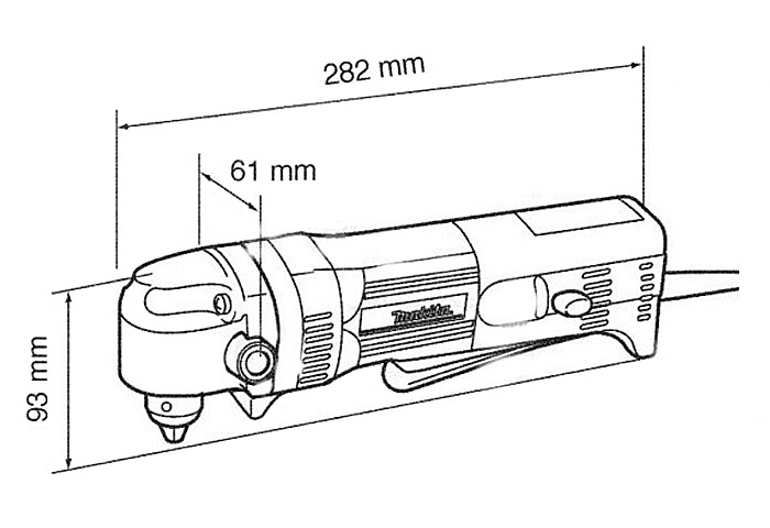 Угловая дрель MAKITA DA3011F