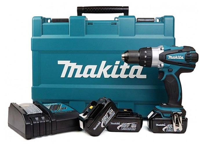 Аккумуляторный ударный шуруповерт MAKITA DHP456RFE3