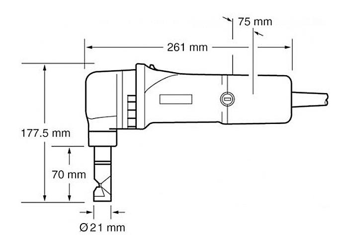 Высечные ножницы по металлу MAKITA JN1601